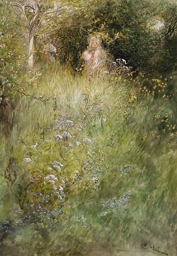 Carl Larsson - A Fairy or Kersti? 1899