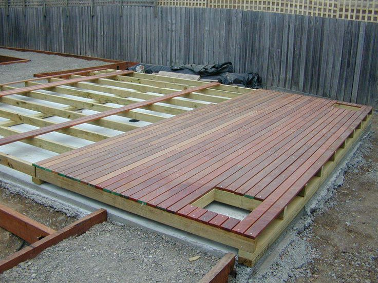 Decking over concrete
