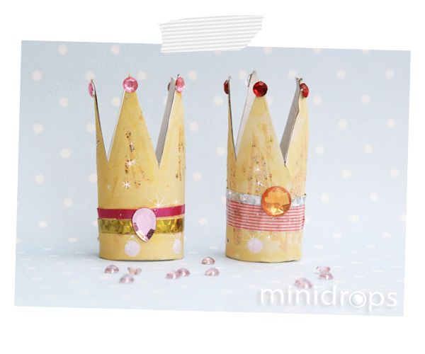 Prinzessin Krone - ganz simpel aus einer Toilettenpapierrolle / Princess Crown out of toiletpaperroll