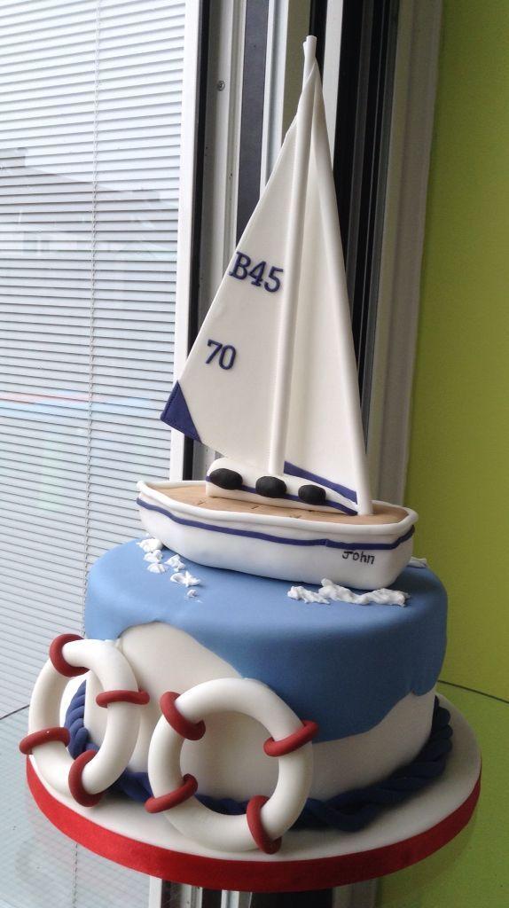 Admirable Boat Cake Boat Cake Nautical Birthday Cakes Sailboat Cake Funny Birthday Cards Online Sheoxdamsfinfo