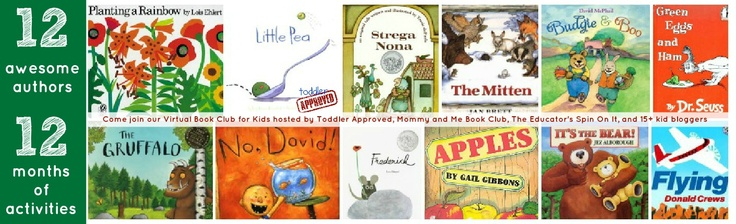 Toddler Approved!: Announcing.... Our Year-long Virtual Book Club for Kids! 12 authors, 12 months of activities, and 15+ bloggers participating! Are you going to join in?