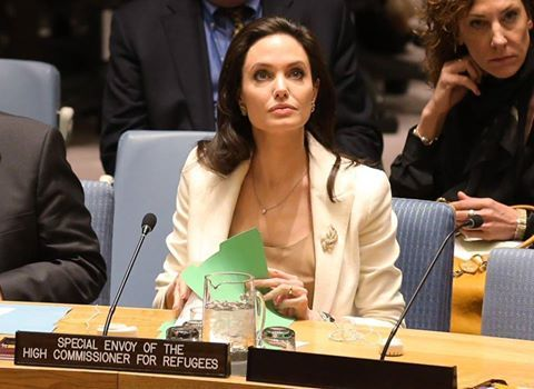 {  UNITED NATIONS SECURITY COUNCIL (7433RD MEETING), OPEN BRIEFING ON THE HUMANITARIAN SITUATION IN SYRIA, REMARKS BY ANGELINA JOLIE PITT, UNHCR SPECIAL ENVOY FOR REFUGEE ISSUES. NEW YORK, 24 APRIL 2015. REMARKS AT THE UN SECURITY COUNCIL   } #CentreForTheResponsibilityToProtect(GCR2P) via #UNHCRTheUNRefugeeAgency  http://www.unhcr.org/553a459d6.html