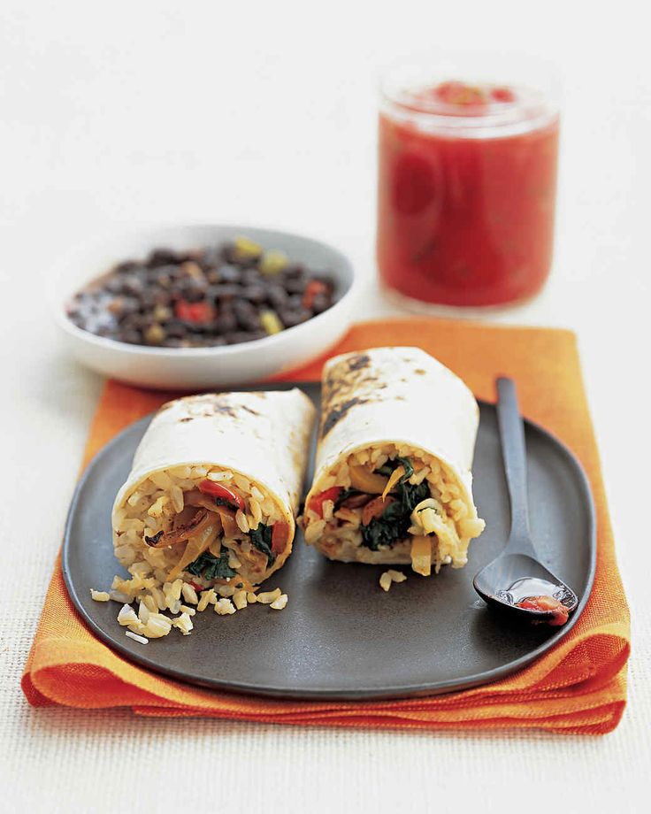 To add more protein to this vegetarian dish, fold drained and rinsed canned black beans into the rice mixture. Or serve it with Soupy Black Beans.