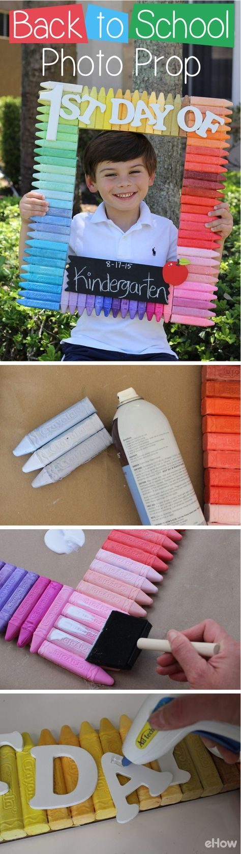 The first day of school is as exciting for parents as it is for kids, and if you're a mom who takes pictures each year of your child's first day of school, you're probably looking for a way to make it extra special. This easy back to school photo prop can be done in only 5 steps, and is a perfect summer craft to do with your kids.