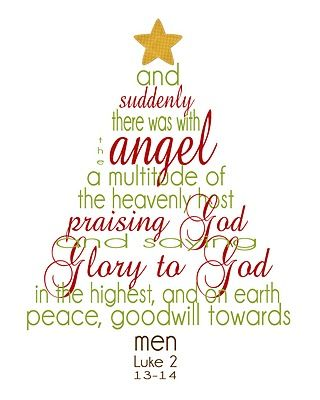 Christmas Scripture Word Tree Printable {Christmas Tree} via TipJunkie.com