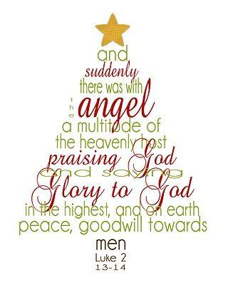 Christmas Scripture to print & frame