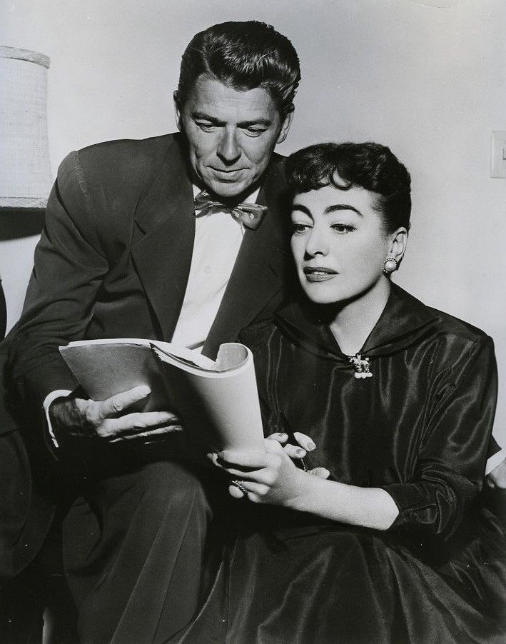 Ronald Regan and Joan Crawford