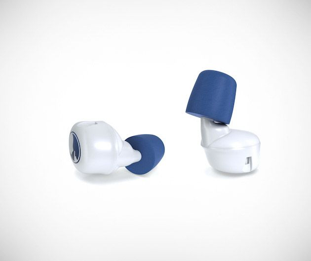 HUSH: Meet Hush, the world's first smart earplugs. Never be kept awake again by noisy neighbors, a snoring spouse or sleep easily on a flight without having to rest your head on cumbersome headphones. Not only do these comfortable buds block out unwanted noise, but will send you into slumber with soothing sounds sent via Bluetooth. Don't worry about sleeping in or missing important calls, they come armed with features such as notification alerts and an alarm too...