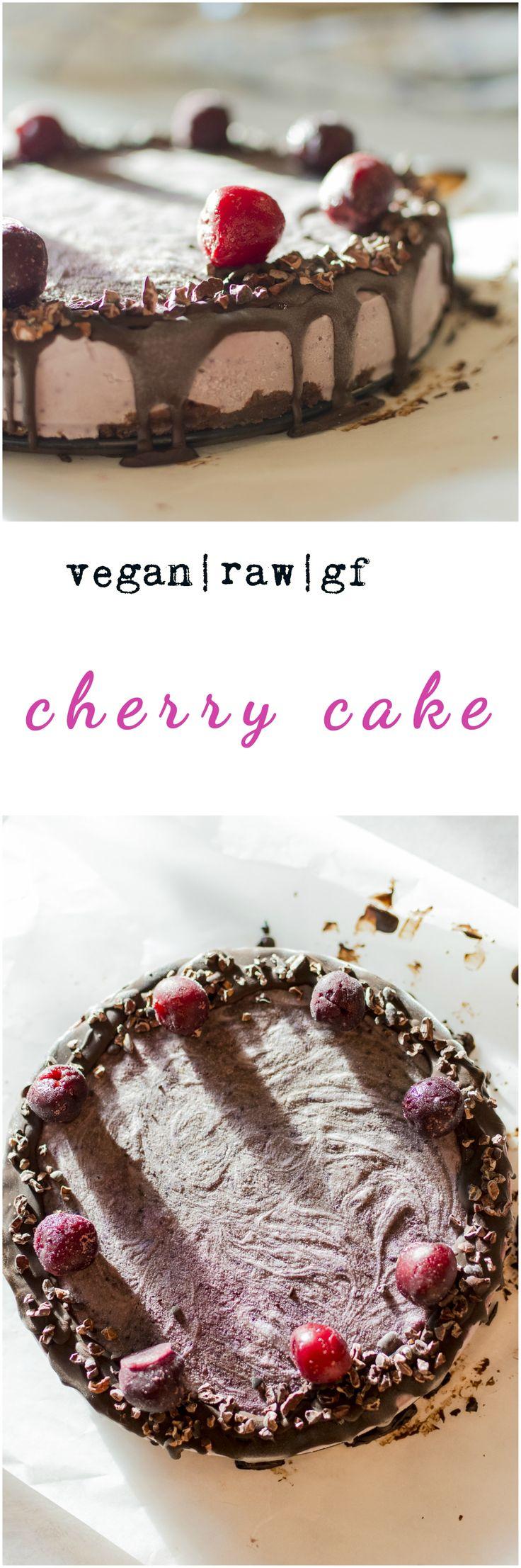 Raw vegan cherry frozen cake.