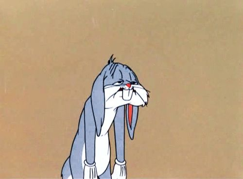 Bugs Bunny // Tired Sad Stressed