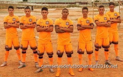 Comprar replicas camisetas de fútbol baratas 2016 : Camiseta de futbol tailandia SC Corinthians 2016 3...