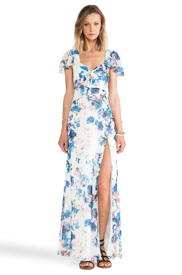 Lovers Friends X Revolve The Keeper Maxi In Blue Floral