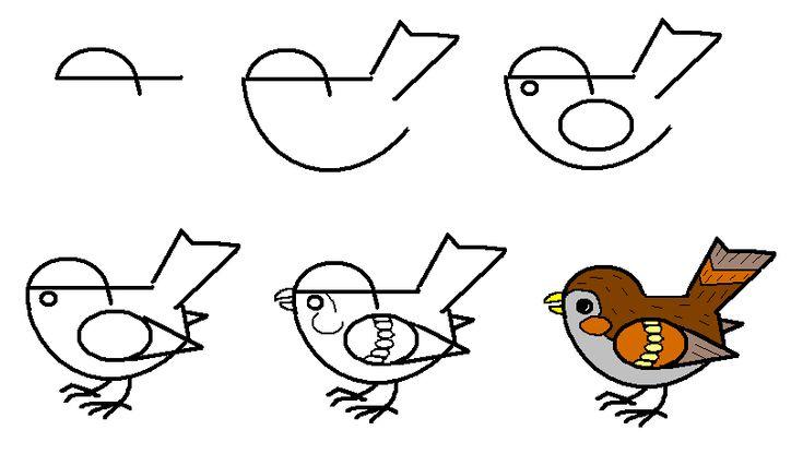 Дикие птицы. Рассказывание и пошаговое рисование