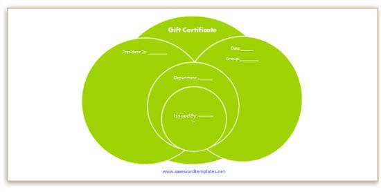 Green Gift Certificate Templates