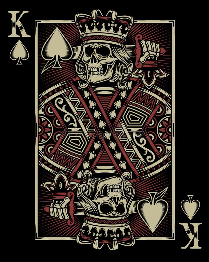 Skull Playing Card Fully Editable Vector Illustration Of Skull Playing Card Im Ad Vector Editable Skull Dark Iphone Backgrounds Cards Playing Cards