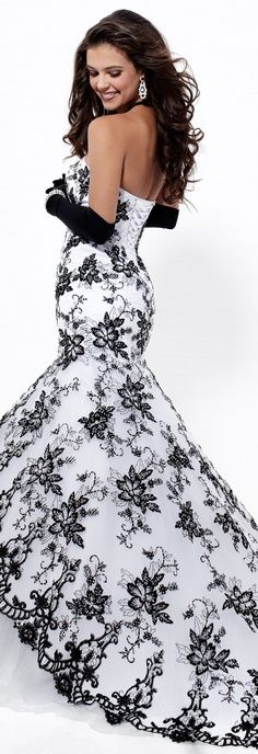 Black and white. This would be an amazing unconventional wedding dress