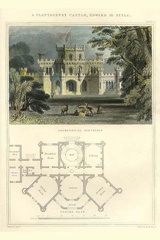 Edwardian Style Plantagenet Castle. High quality vintage art reproduction by Buyenlarge. One of many rare and wonderful images brought forward in time. I hope they bring you pleasure each and every ti