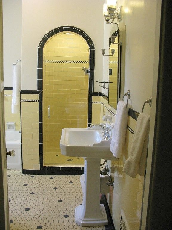 Full Bathroom with period authentic tile.