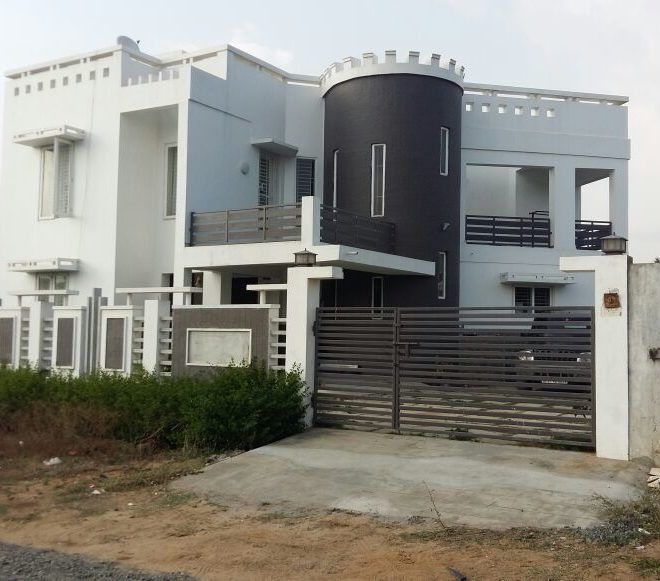 ECR Panayur Modern layout 3Bhk house West facing 2 ground land 2 cat parking