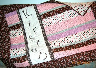 Baby girl quilt sewing