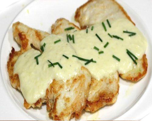 Receta de pechugas de pollo en salsa de queso