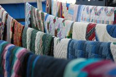 Quilts on a line royalty free stock image   Dreamstime