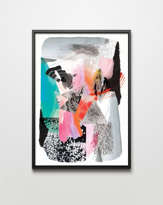 graphic Forms VIII. graphic art giclée signed by PrintlovePL