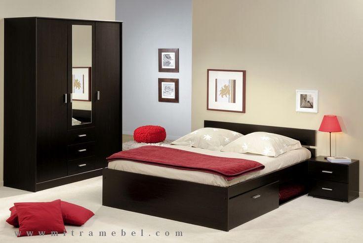 Set Kamar Tidur Minimalis Black
