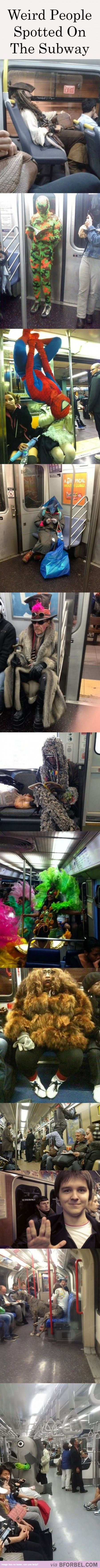 12 Weird Characters Spotted On The Subway…