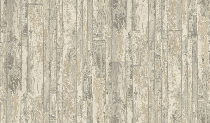 Driftwood (1987/939) - Prestigious Wallpapers - A detailed, faded wood panelling design with a hand painted effect. Shown here in various shades of string and grey. Other colourways are available. Please request a sample for a true colour match. Pattern repeat is 61cm. Paste-the-wall product.