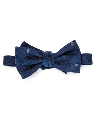 Prince Of Wales Bow Tie, Blue-Lt. Blue by Alexander McQueen at Neiman Marcus.