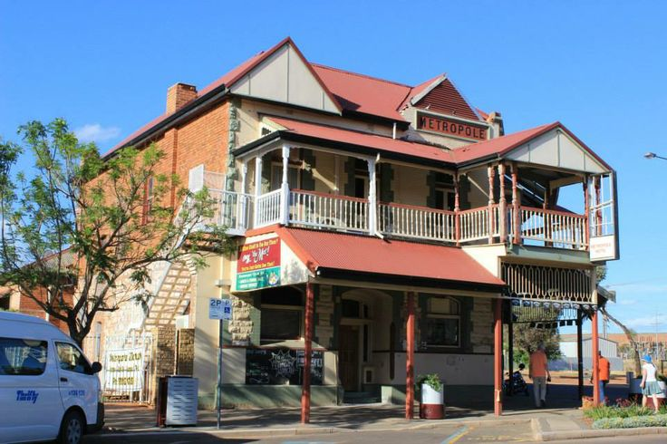The Metropole Hotel in Boulder - where miners came into the bar through a tunnel to get their beer! Location: Kalgoorlie Boulder, Western Australia