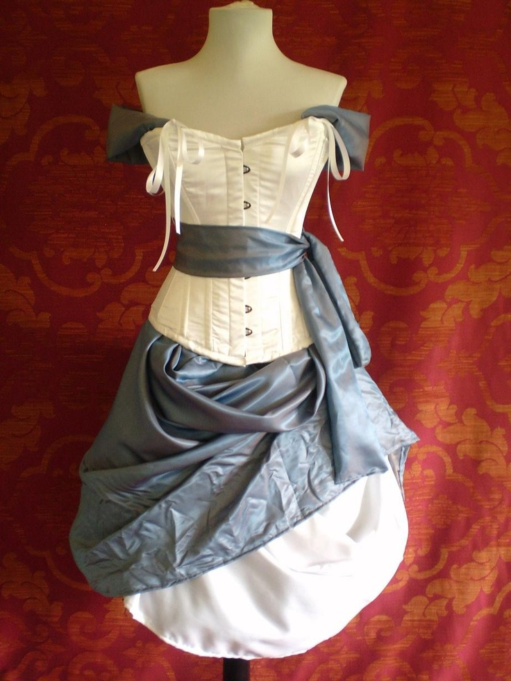 Alice In Wonderland Corset Costume Oufit-Whole Corset Costume Outfit-MADE FOR BUYER. $349.00, via Etsy.
