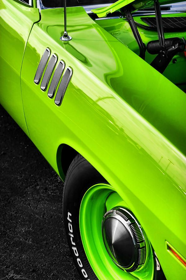 Genial Go Green U002771 U0027Cuda  Got Gills? Neon GreenGreen CarsPlymouth ...