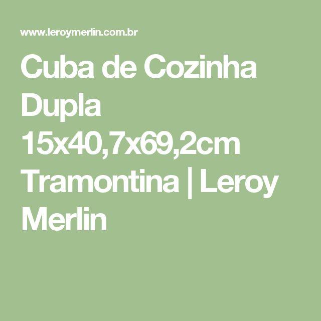 Cuba de Cozinha Dupla 15x40,7x69,2cm Tramontina | Leroy Merlin