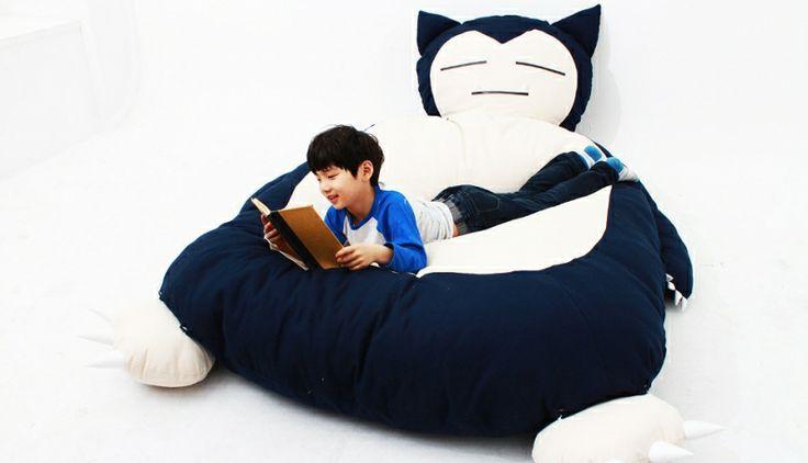 Cama Pokemon Snorlax http://buenespacio.com/cama-pokemon-snorlax.html #cama #pokemon #snorlax #niños