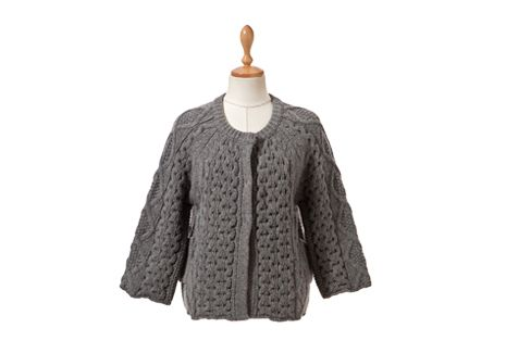 Twist Cable Knit Snap Buttoned Cardigan