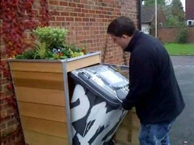 how to hide trash cans | ... its inventor Nick Staley this is how to hide your garbage can properly