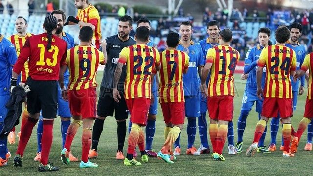 Getafe vrs FC Barcelona. Saludo   FOTO: MIGUEL RUIZ - FCB