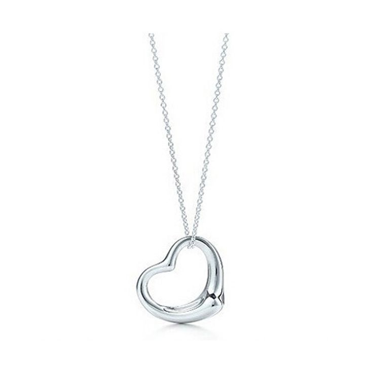 2016 New Popular Bijoux Silver Jewelry Necklace Silver Plated hollow Heart Pendant Necklace for women