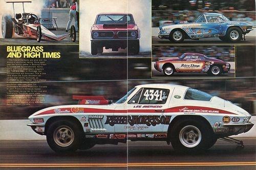 1975 Great Centerfold Pic Tim McDonald Lee Shepherd Corvettes at Bowling Green | eBay