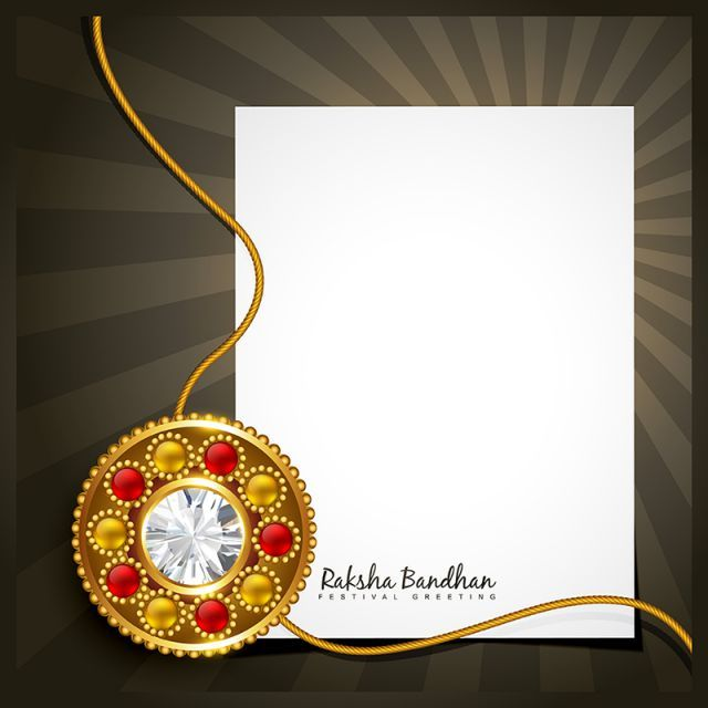 Rakhi Vector Background Png And Vector Poster Template Free Rakhi Design Vector Background