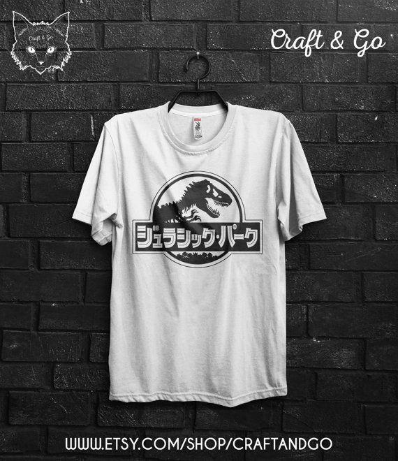 JURASSIC PARK chemise japonais (monde Jurassique tumblr vaporwave esthétique Japon grunge pastel goth)