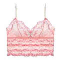 This sweetly sassy almost-cropped-cami length longline softbra is luscious and lovely, comfy and cool and that
