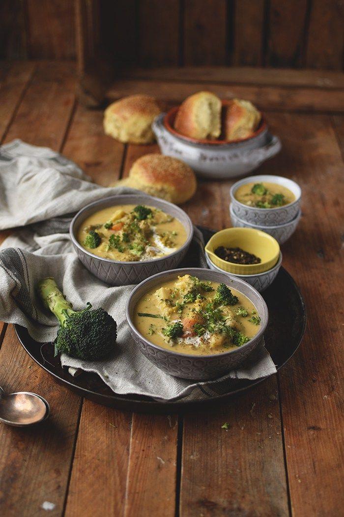 Brokkoli Cheddar Suppe