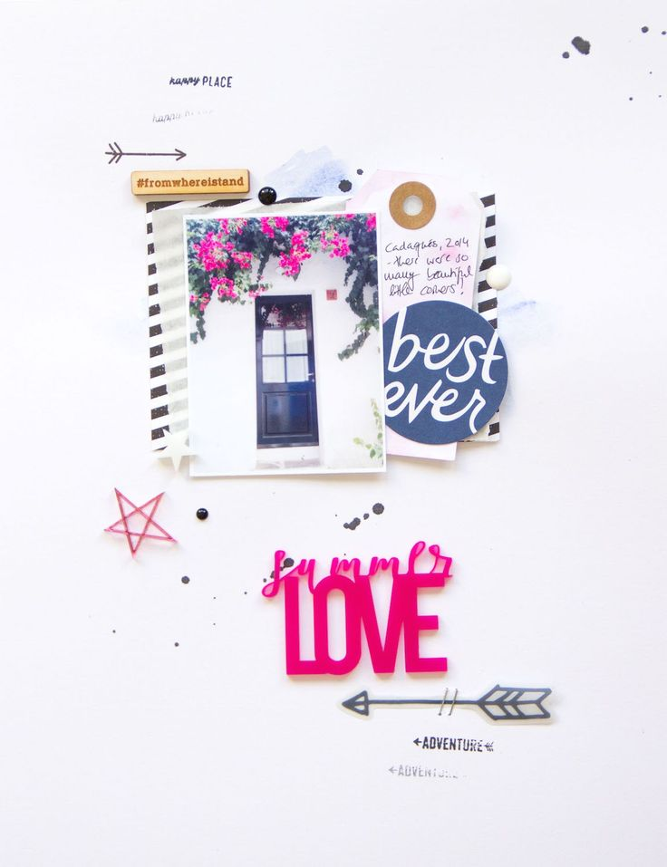 Summer Love Scrapbooking Layout by ScatteredConfetti for Colorcast Designs