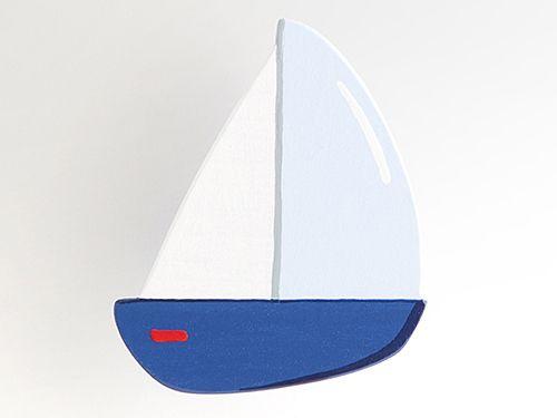 Segelboot - Möbelgriff / Möbelknopf für Kinderzimmer