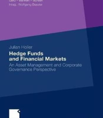 Hedge Funds And Financial Markets PDF