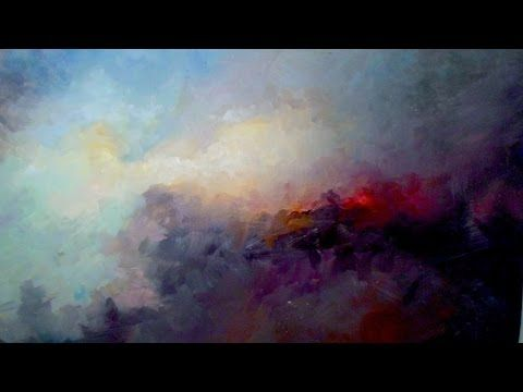 How to paint a beautiful Abstract Background - STEP by STEP - YouTube