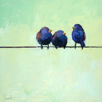 "Ellen Granter- ""Indigo Sprite"" // Reminds me of the Pixar short For the Birds! I want it for my wall."